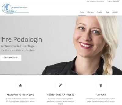 Website für Podologiepraxis