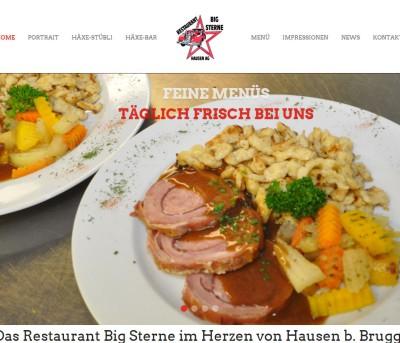 Webseite Restaurant Big Sterne