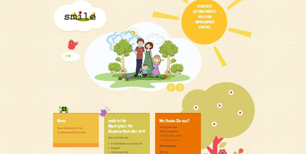 Webseite smilebaby
