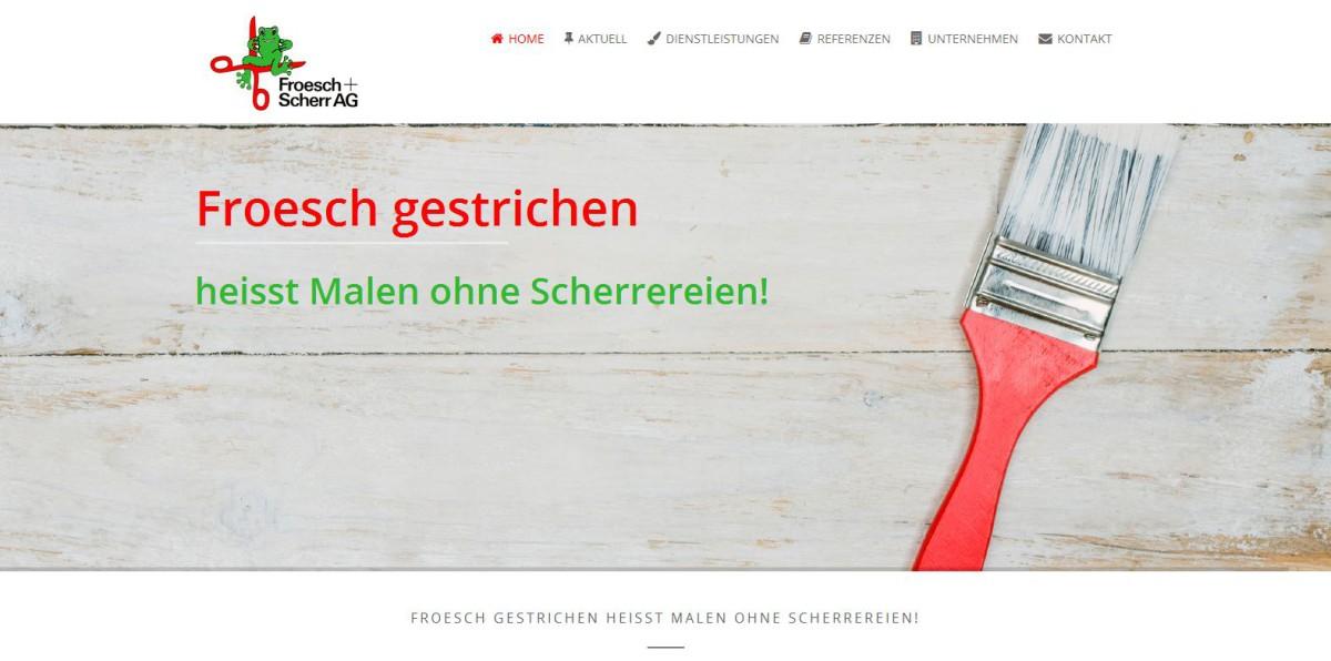Webseite Froesch und Scherr AG