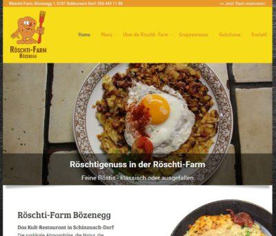 webseite restaurant roestifarm