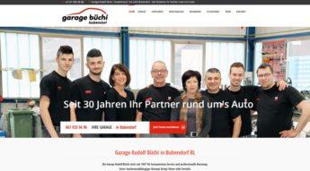 Website Garage Büchi Bubendorf Baselland