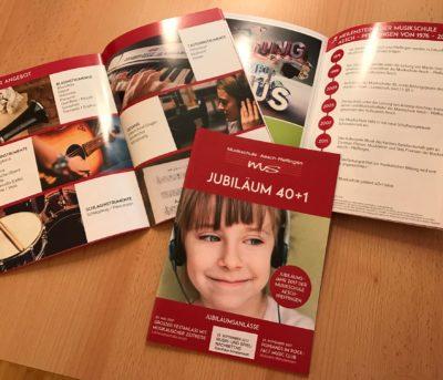 Jubiläumsbroschüre Musikschule Aesch-Pfeffingen