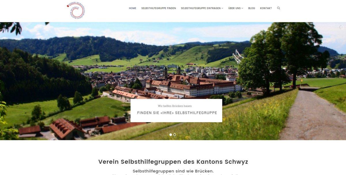 Webseite mit Verzeichnis der Selbsthilfegruppen